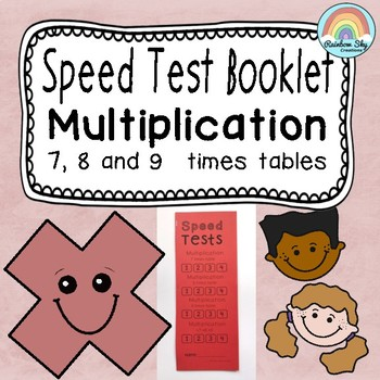 Multiplication clipart test booklet. Facts speed