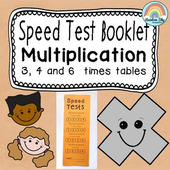 Facts speed . Multiplication clipart test booklet