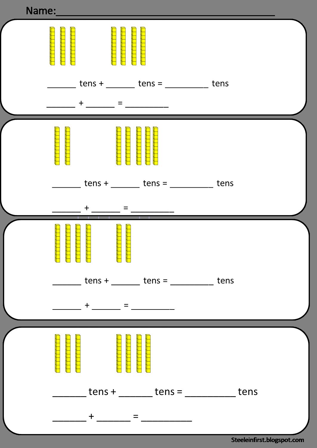 One clipart base ten. Blocks worksheets th grade
