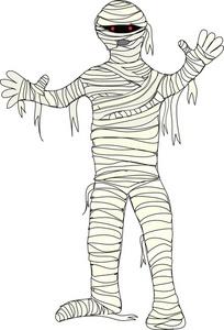 Halloween . Mummy clipart