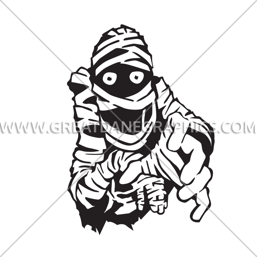 Mummy clipart black and white. Reach production ready artwork