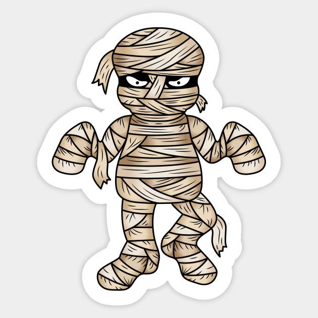 Cool halloween cartoon illustration. Mummy clipart creepy