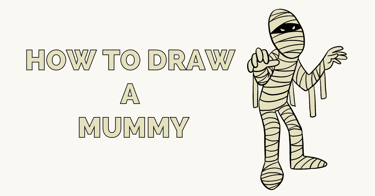 Mummy clipart easy draw. How to a really