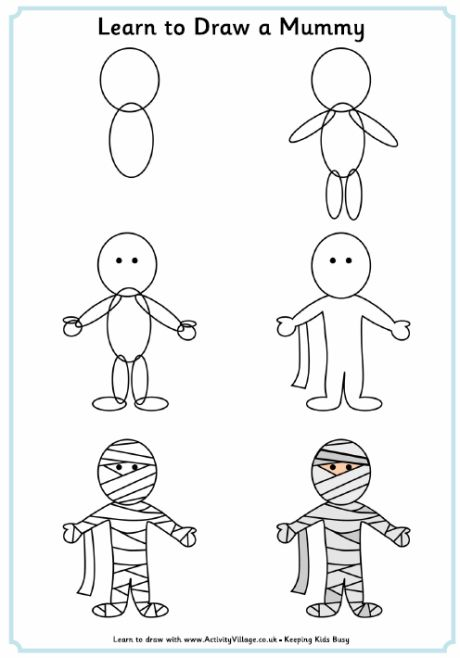 Learn to a just. Mummy clipart easy draw