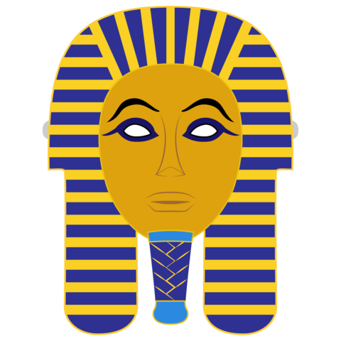 Death template free printable. Mummy clipart egyptian mask