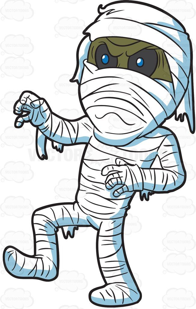 An angry in bpe. Mummy clipart mummy wrap