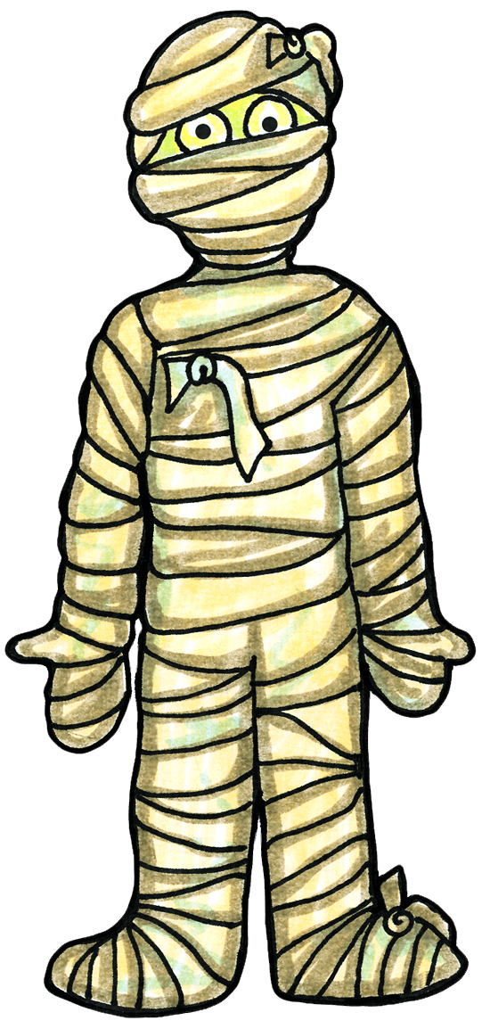 The funniest prank ever. Mummy clipart walking