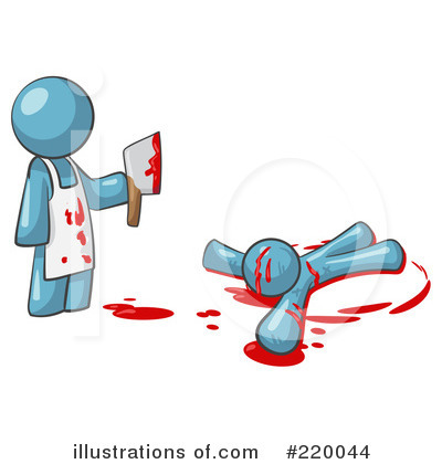 Illustration by leo blanchette. Murder clipart