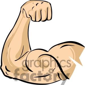 Muscle clipart. Flexing arm