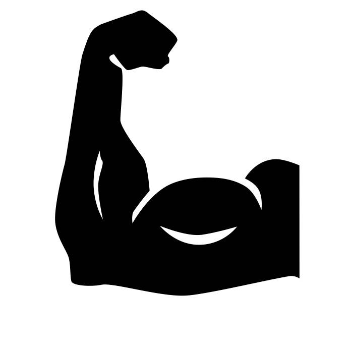 Muscle clipart arm logo. Noun cc conquer win
