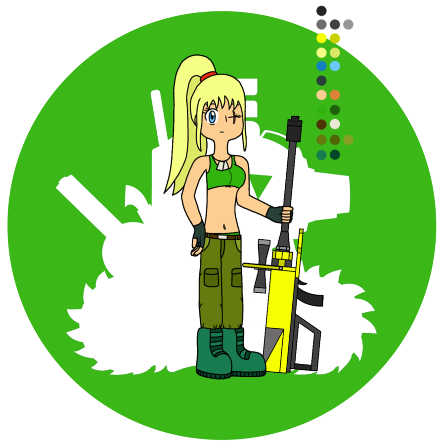 Dragunov from metal slug. Muscles clipart brawny