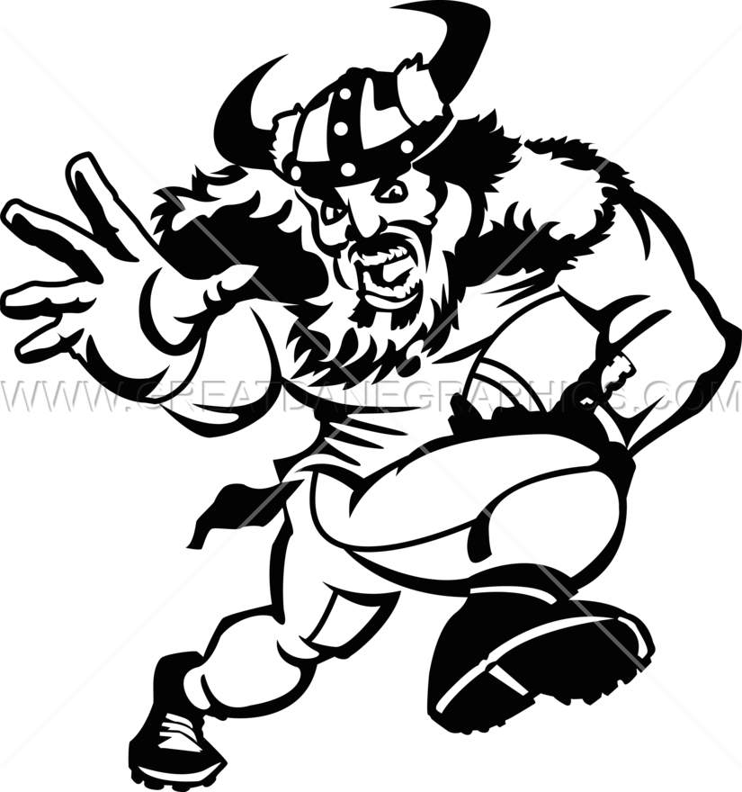 Muscle clipart football player. Viking production ready artwork