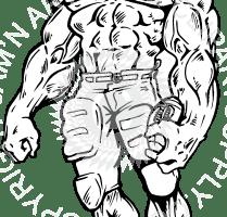 Muscular portal . Muscle clipart football player