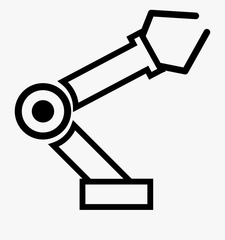 Robotic svg png icon. Robot clipart robot arm