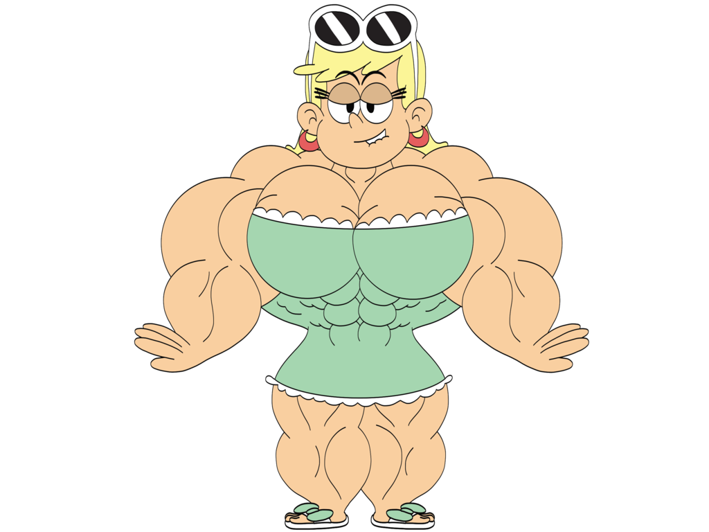 Muscle clipart muscle mass. Beefy leni loud by