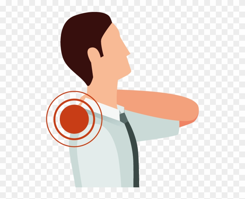 Shoulder muscular pain joint. Neck clipart muscle ache
