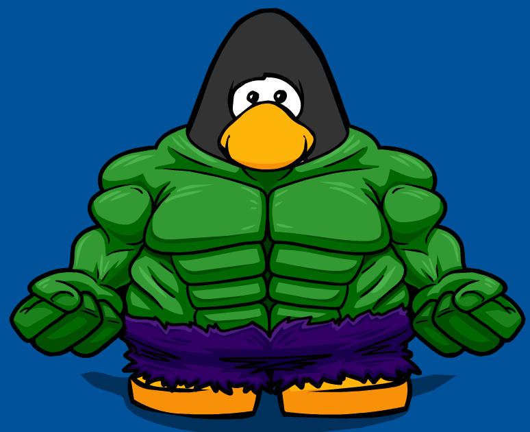 Image hulk bodysuit from. Muscles clipart penguin