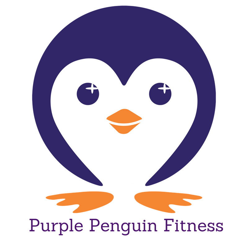 Muscles clipart penguin. Purple fitness about us