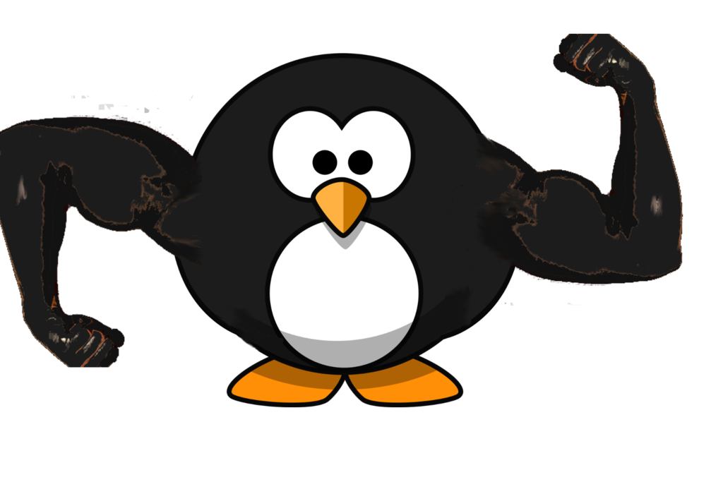Muscles clipart penguin. Muscle by stormingpenguin on