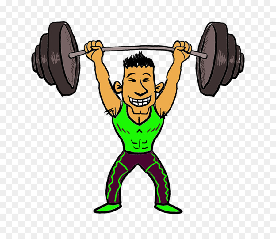 Muscles clipart weightlifting. Fitness cartoon muscle barbell