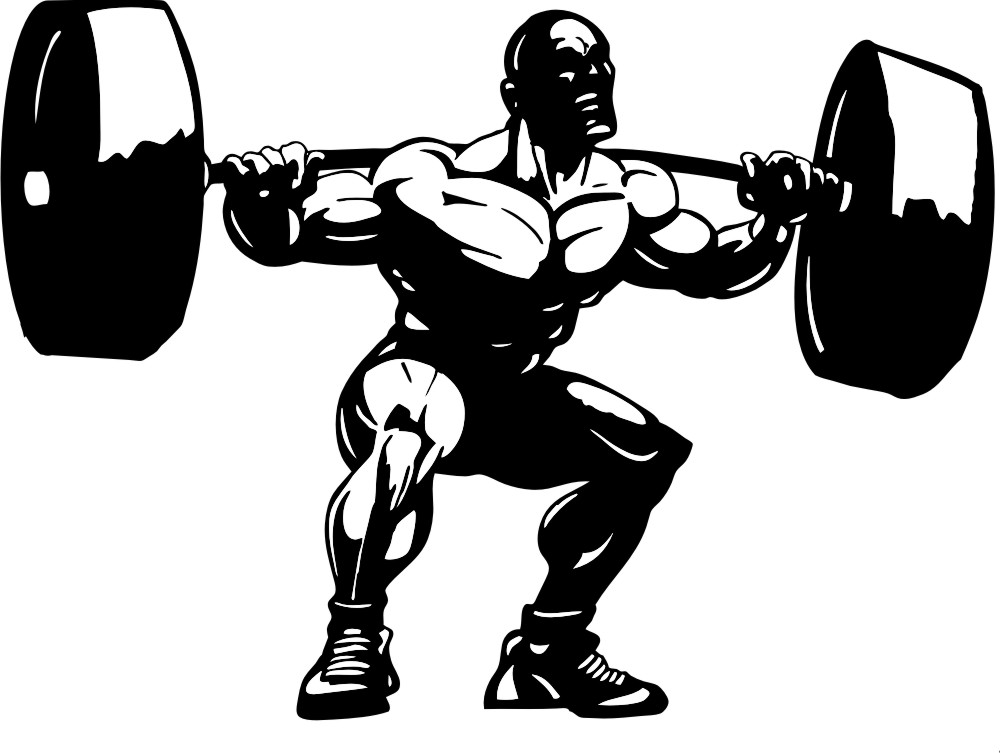 Free weight lifting cliparts. Muscle clipart weightlifting
