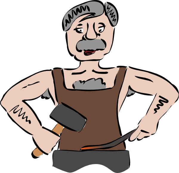 Ironsmith clip art at. Thumb clipart side
