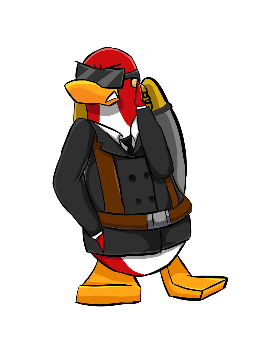 Muscles clipart penguin. Club island on twitter