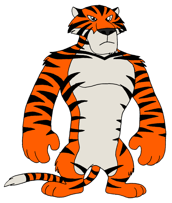 Vitaly the by retrouniverseart. Muscles clipart tiger