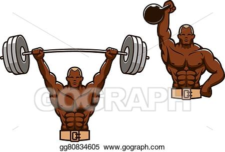 Eps illustration cartoon muscular. Weight clipart muscle