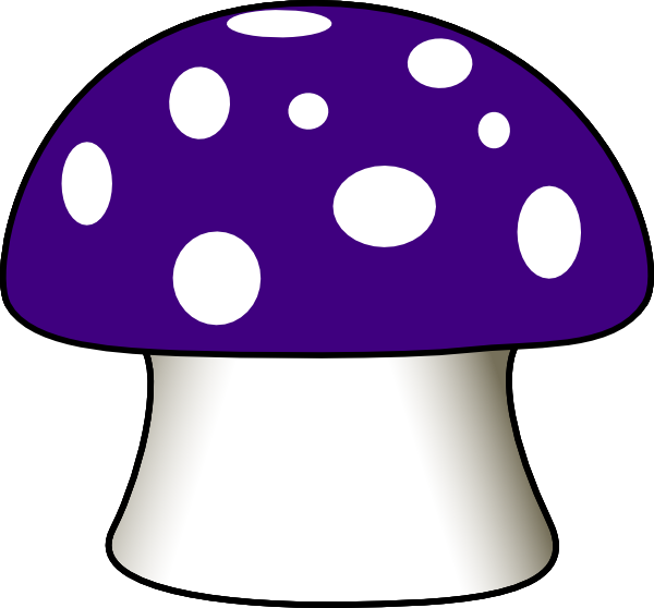 Mushroom clipart. Purple clip art at
