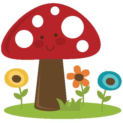 Cute . Mushroom clipart