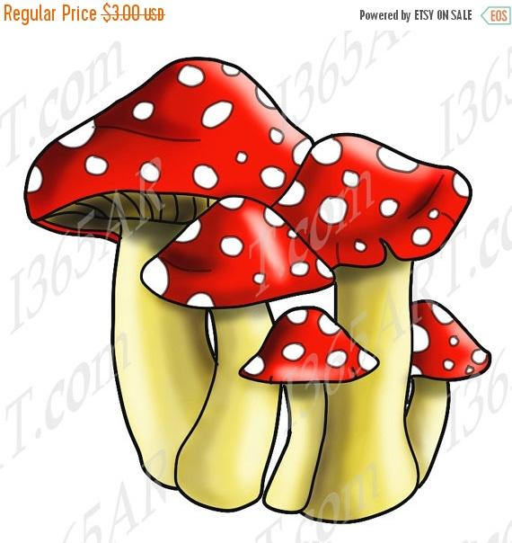 off spotted mushrooms. Mushroom clipart