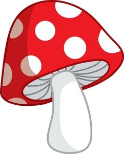 Mushroom clipart. Cute cartoon pictures toadstool