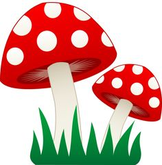 Cute cartoon mushroom pictures. Mushrooms clipart
