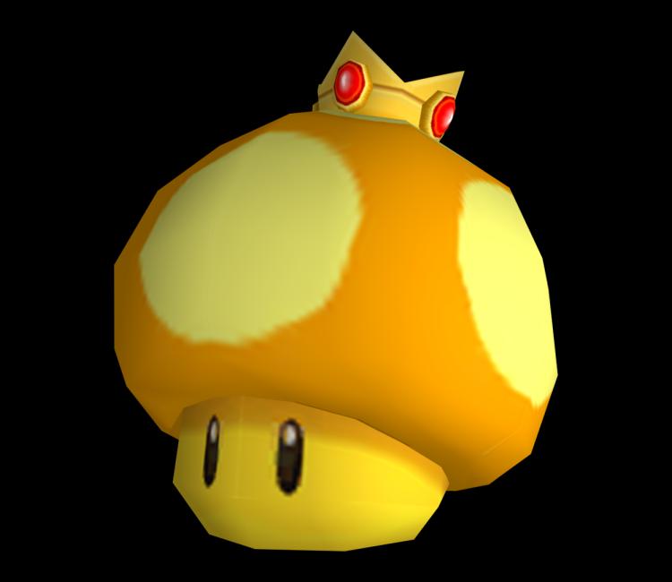 Wii mario kart golden. Mushroom clipart animation