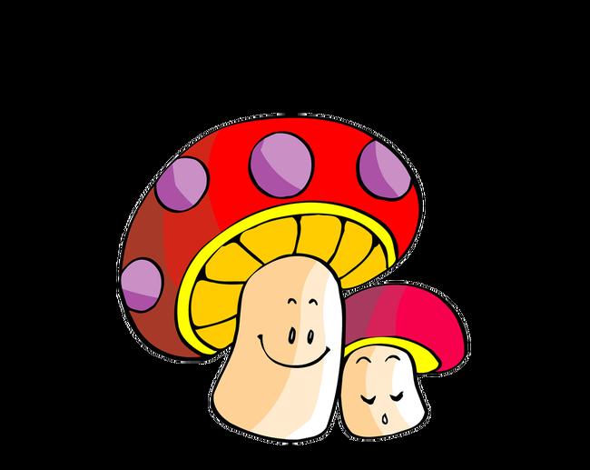 Mushroom clipart animation. Cartoon transprent png free