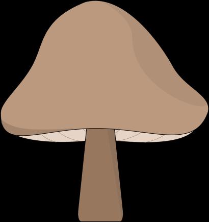 Clip art image . Mushroom clipart brown mushroom