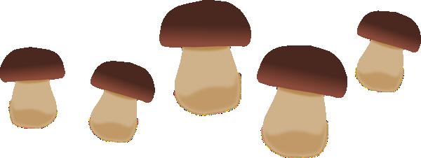 Mushroom clipart brown mushroom. Mushrooms clip art at