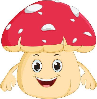 Mushrooms clipart happy. Mushroom cartoon premium clipartlogo