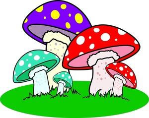 Mushrooms clipart mushroon. Colorful mushroom station