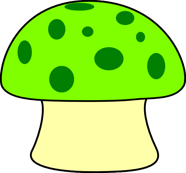 Mushrooms clipart green mushroom.  collection of colorful