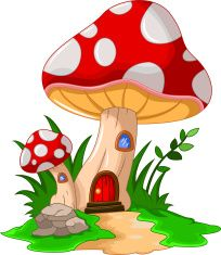 Mushroom clipart design. House for you vector
