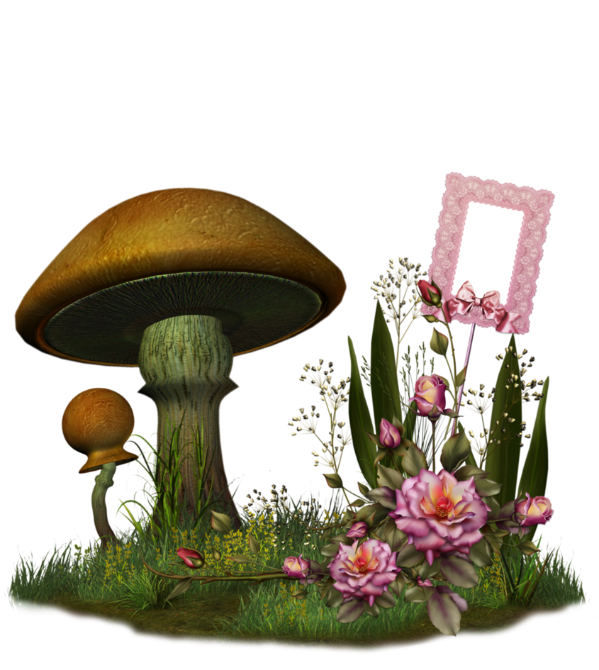 Mushrooms clipart fairy mushroom. By collect and creat