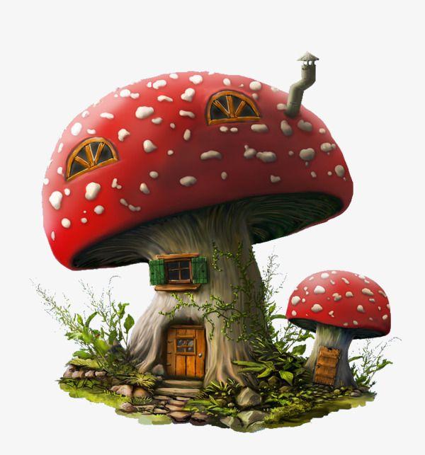 Mushrooms clipart fairy village. Mushroom house arts crafts