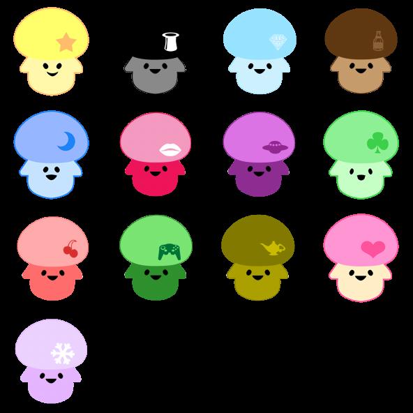 Mushrooms clipart happy. Mushroom free icons icon