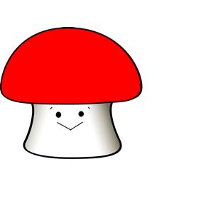 Mushroom cliparts of free. Mushrooms clipart happy