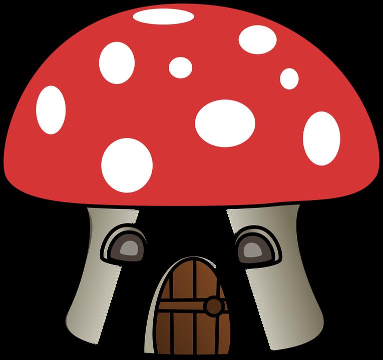 Mushroom clipart hut. Free photo home house