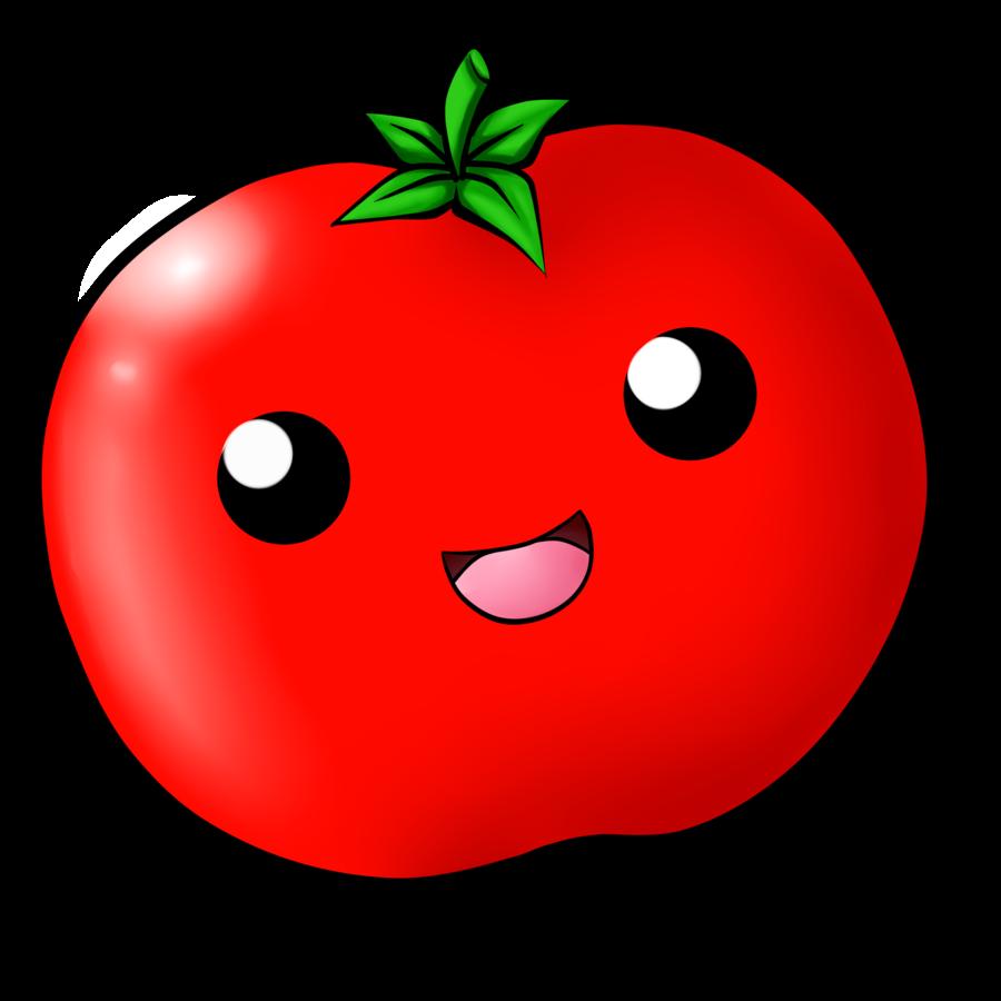 Tomato by chloeisabunny on. Mushroom clipart kawaii