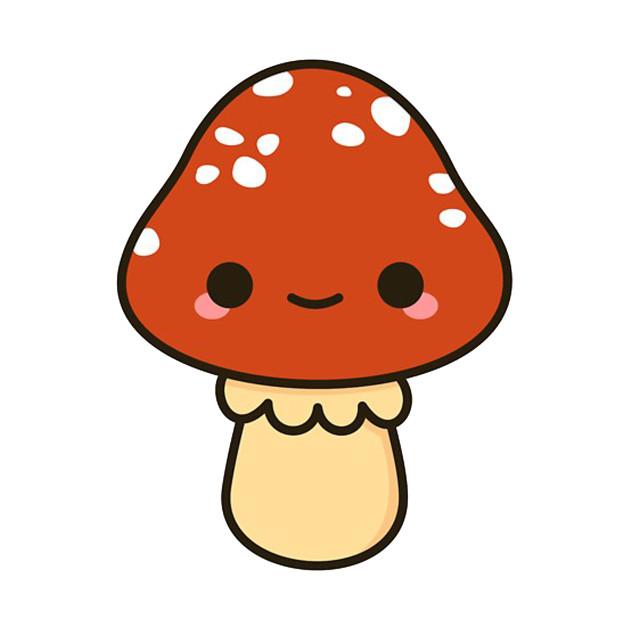 Mushroom clipart kawaii. Red toadstool