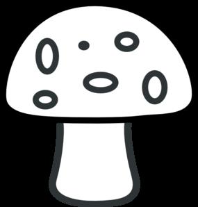 Mushroom template black and. Mushrooms clipart line drawing